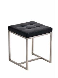 Sitzhocker Barci  Kunstleder schwarz