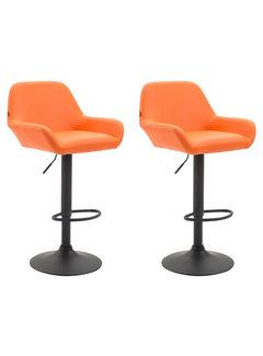 2er Set Barhocker Braga Kunstleder orange