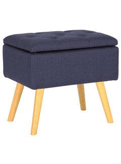 Sitzhocker Chloe Stoff blau