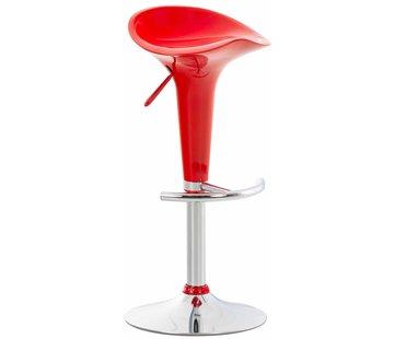 Barhocker Saddle Kunststoff rot