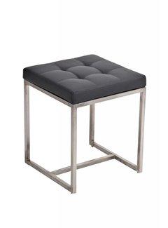 Sitzhocker Barci Kunstleder grau