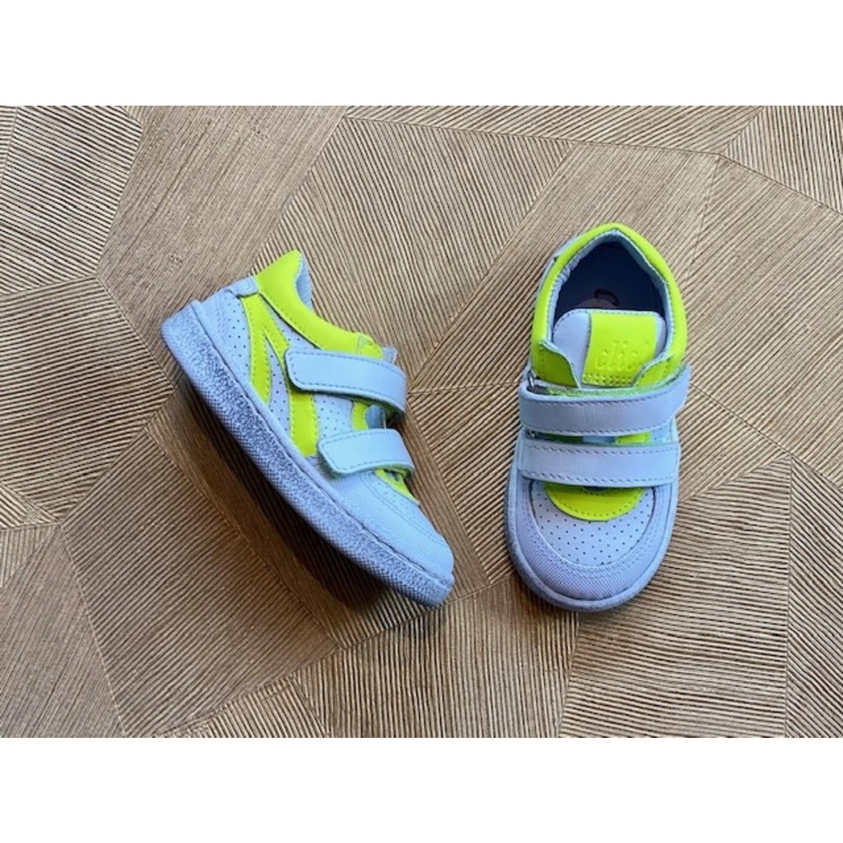 CLIC CLIC * flex klittenband wit+fluor  geel