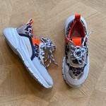 CLIC CLIC * SALE sneaker witte zool/safari