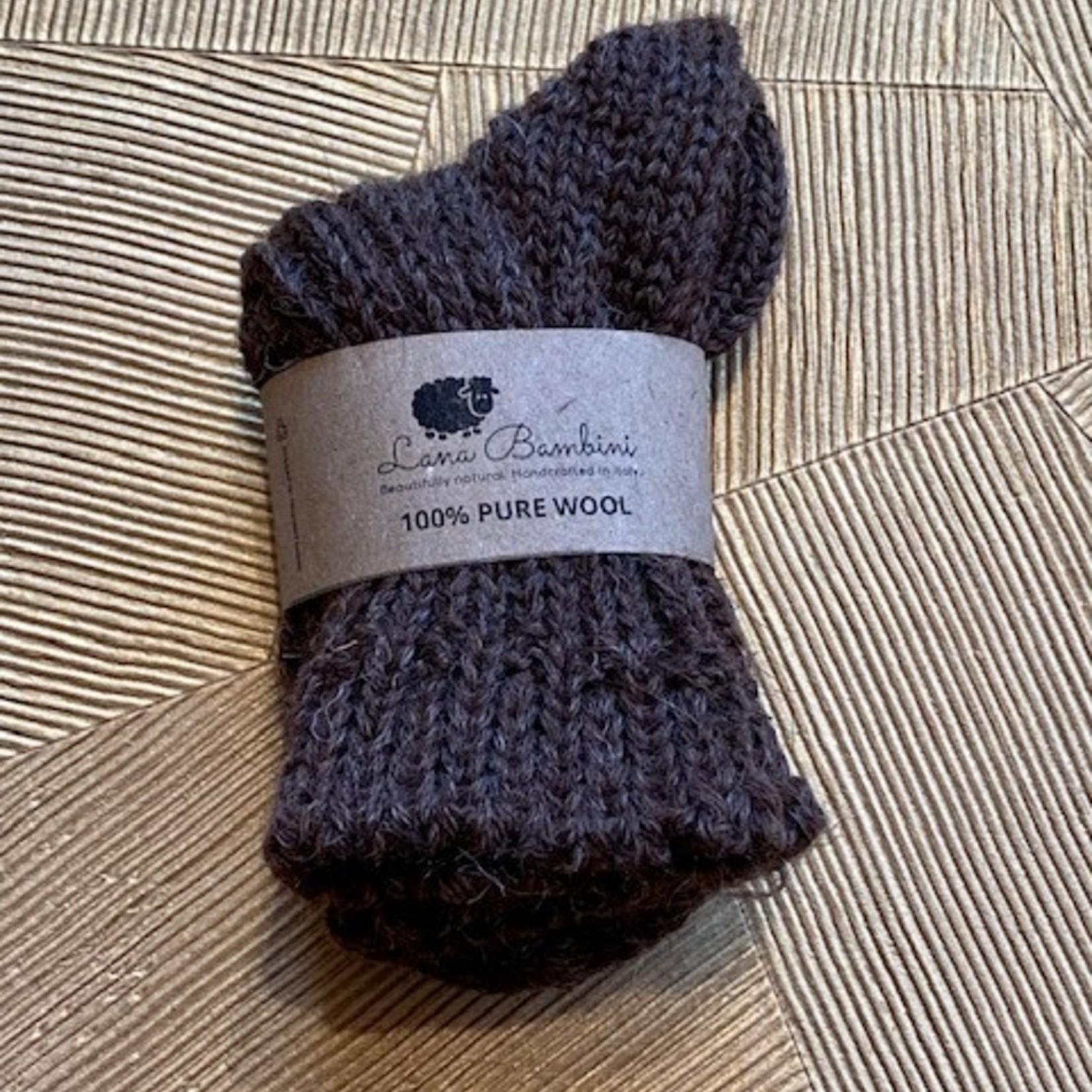 LANA BAMBINI LANA BAMBINI sokken 100% wol dark brown