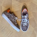 BO-BELL BO-BELL veter en rits schoen  leopard