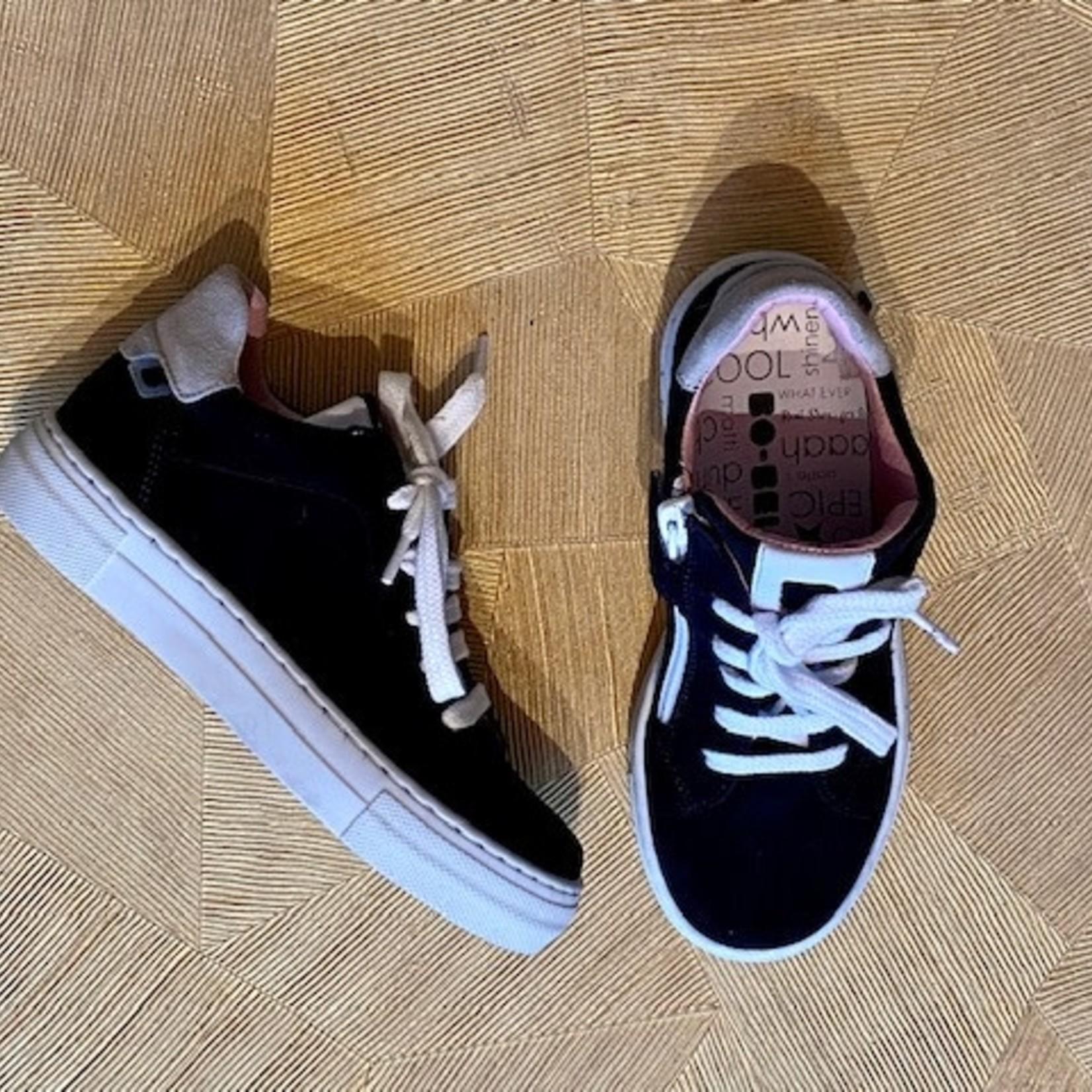 BO-BELL BO-BELL veter en rits schoen donkerblauw