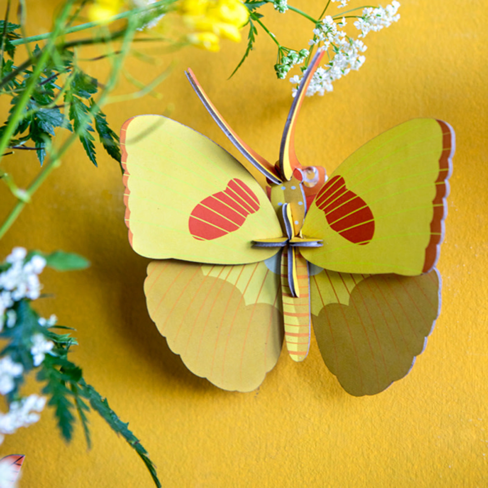 STUDIO ROOF STUDIO ROOF -wall decoration- yellow butterfly