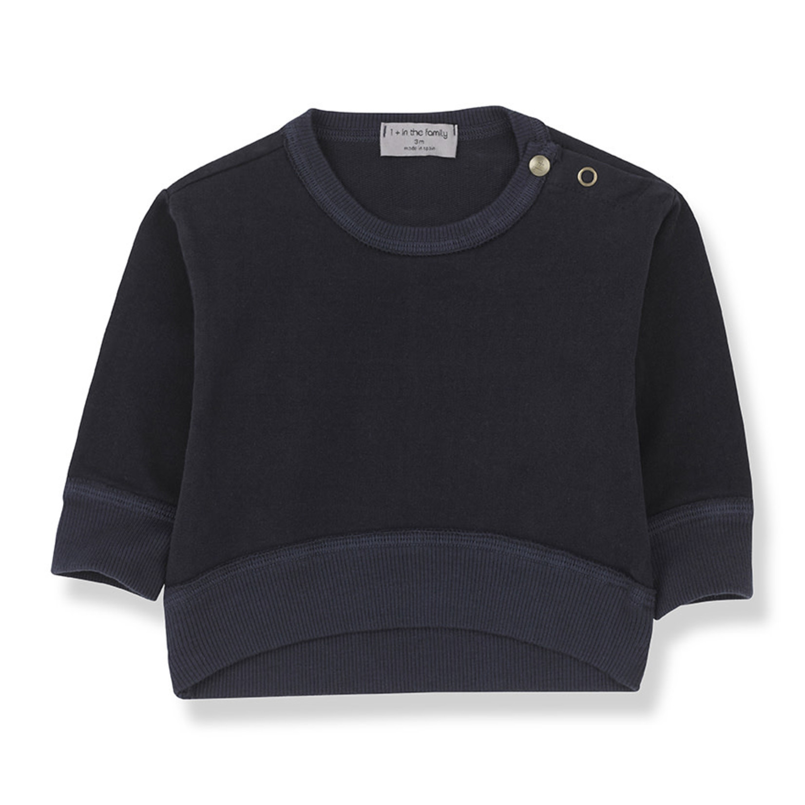 1+IN THE FAMILY 1+IN THE FAMILY siracusa sweat BLUE