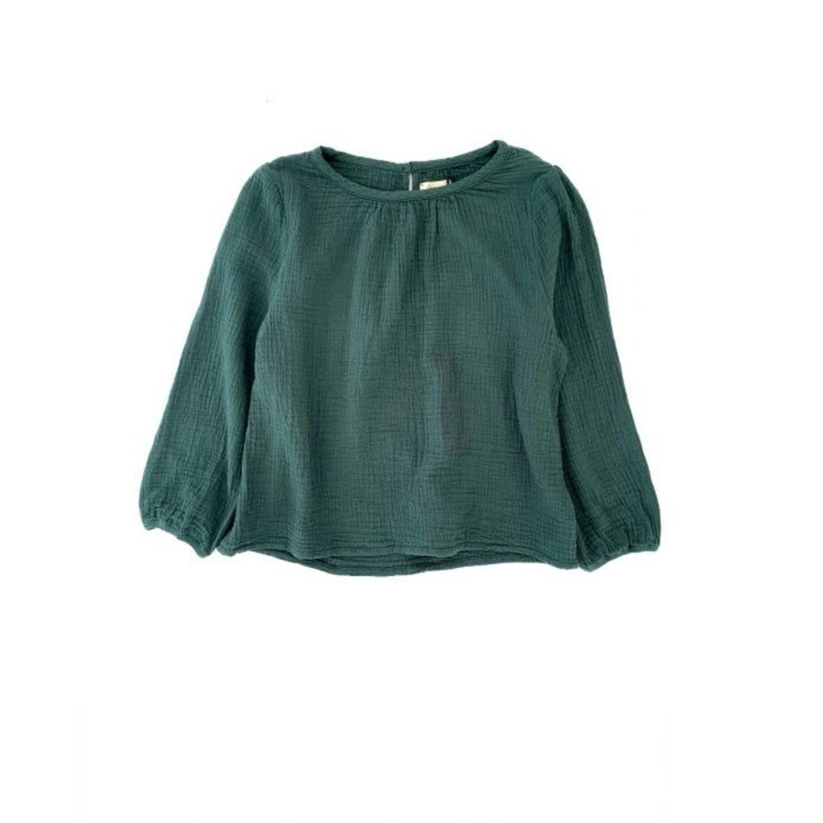 LONG LIVE THE QUEEN LONGLIVETHEQUEEN crinkle blouse dark