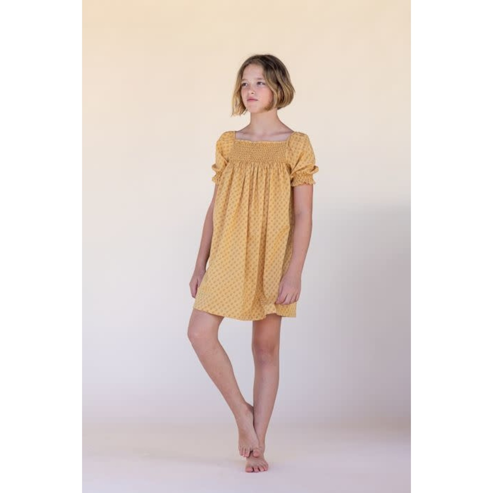 LONG LIVE THE QUEEN LONGLIVETHEQUEEN   babydoll dress yellow