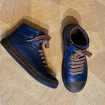 BANA & CO BANA & CO veter en rits schoen blauw