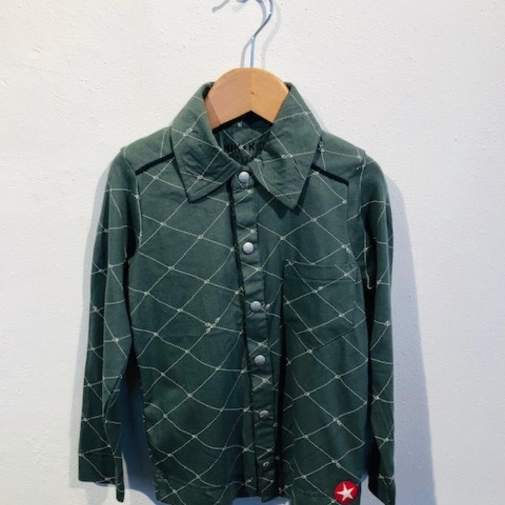 kik-kid KIK-kid outlet blouse print  groen