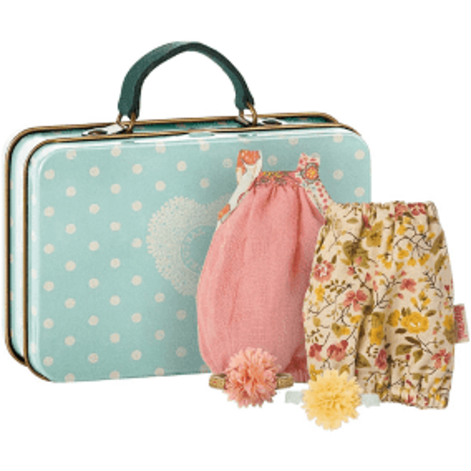 MAILEG Maileg Suitcase with 2 dresses