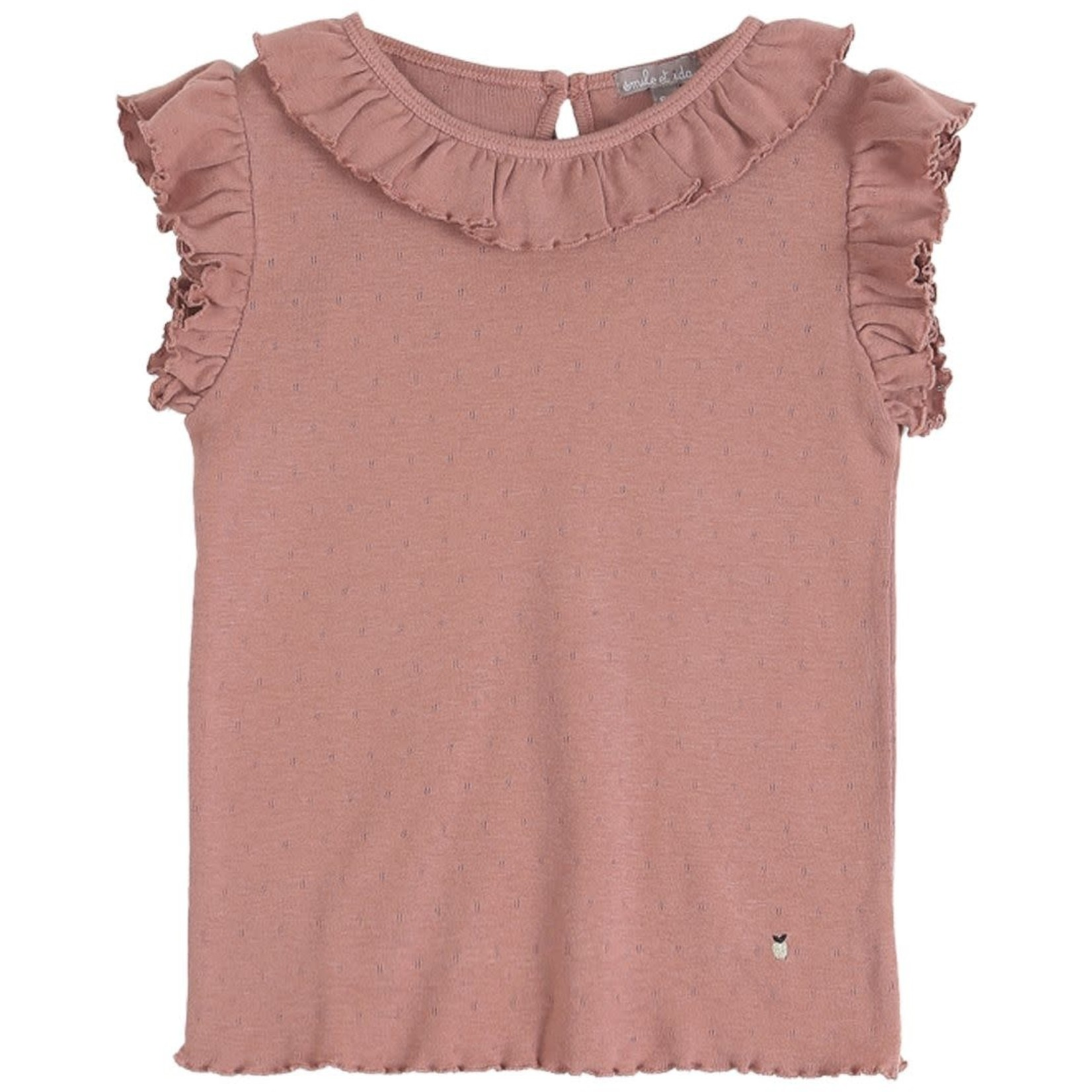 EMILE ET IDA EMILE & IDA NEW t-shirt TERRE AJOURE