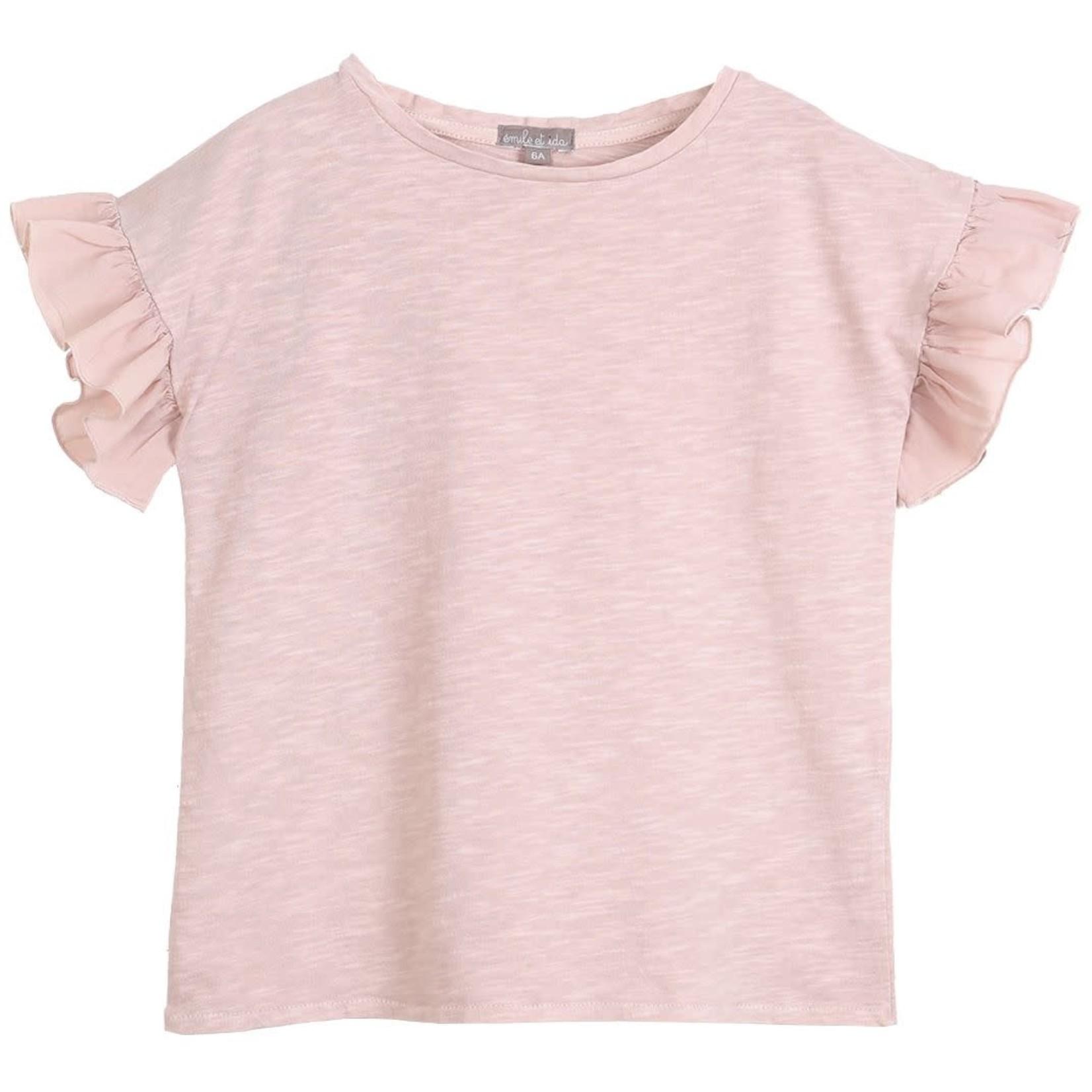 EMILE ET IDA EMILE & IDA NEW t-shirt VIEUX ROSE