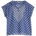 EMILE ET IDA EMILE ET  IDA  blouse POIS BLUE