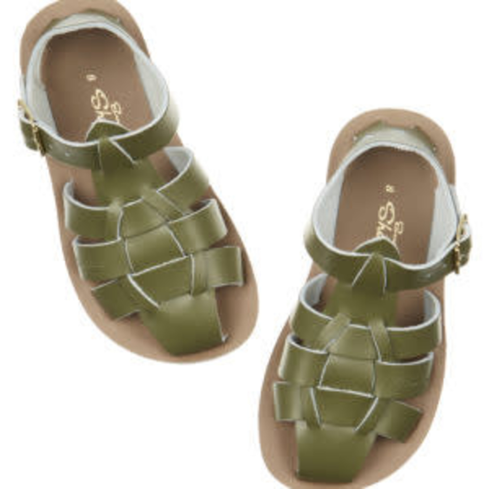 SALTWATERSANDALS SALT WATER shark OLIVE