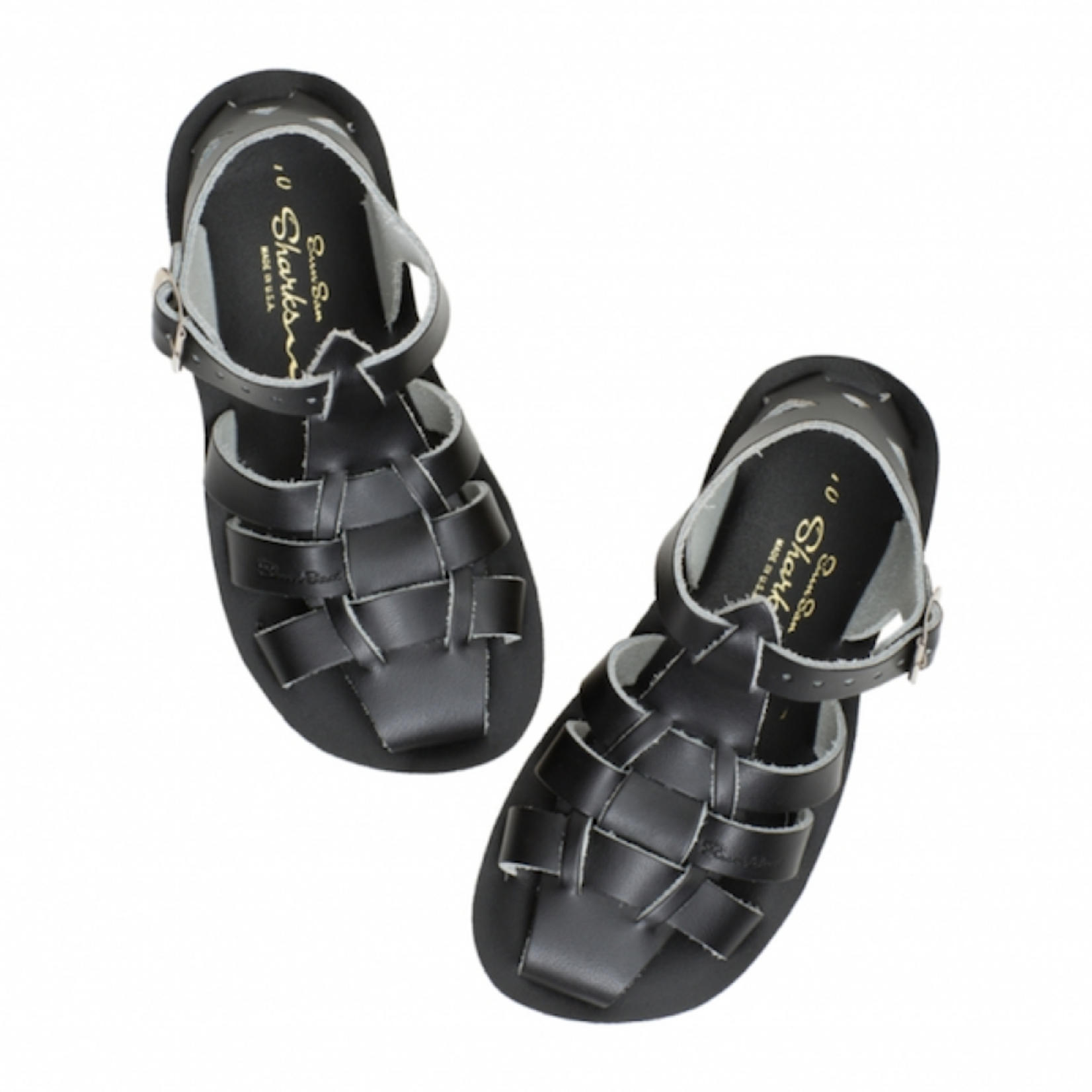 SALTWATERSANDALS SALT WATER shark BLACK