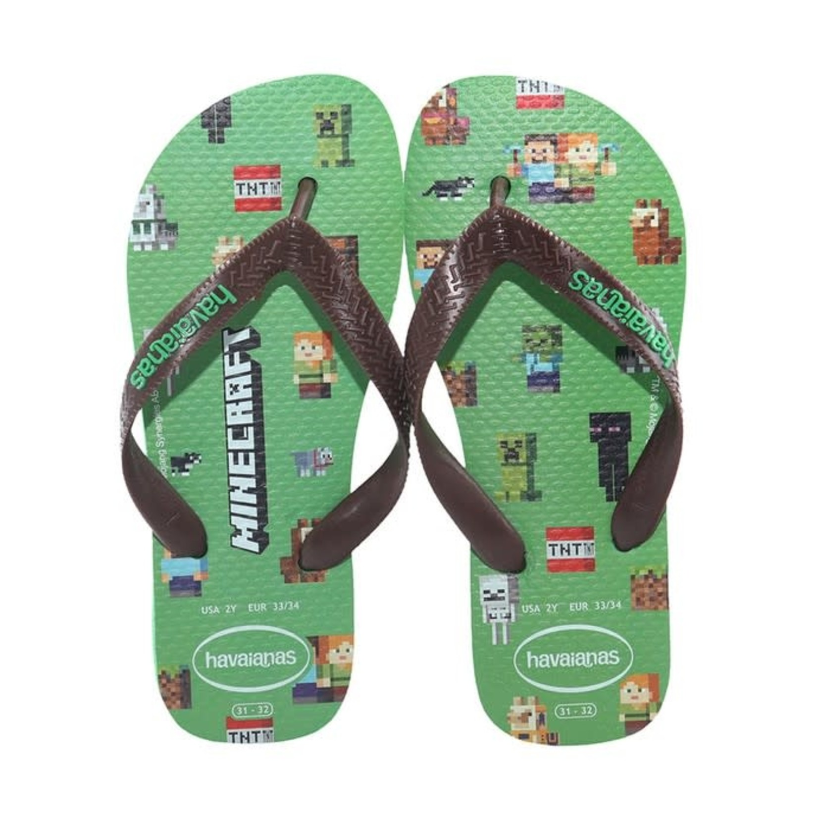 HAVAIANAS HAVAIANAS slippers minecraft LEAF
