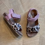 CLIC CLIC sandaal gevlochten klittenband PONY/ROZE