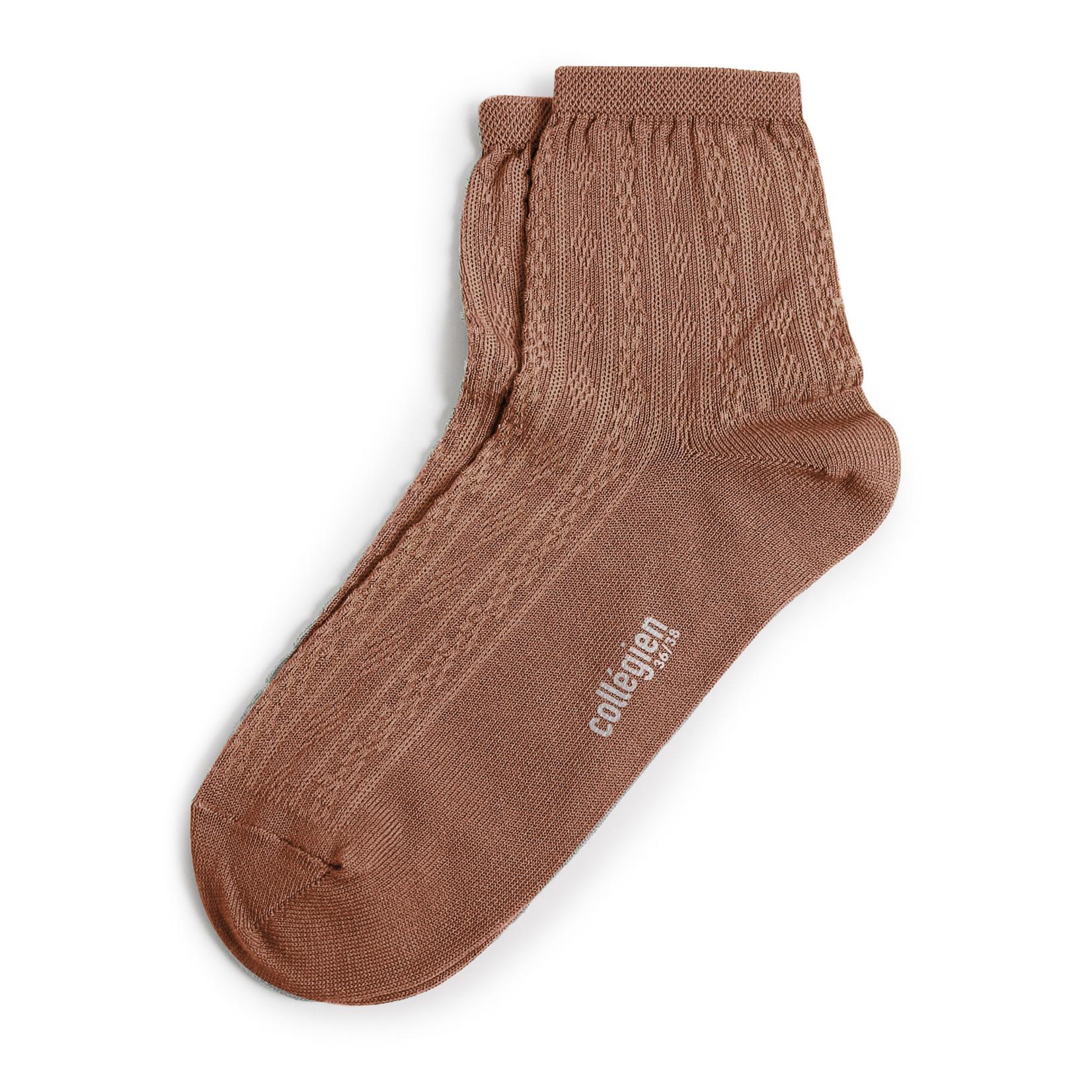 COLLEGIËN COLLEGIËN antoinette korte sokken PRALINE