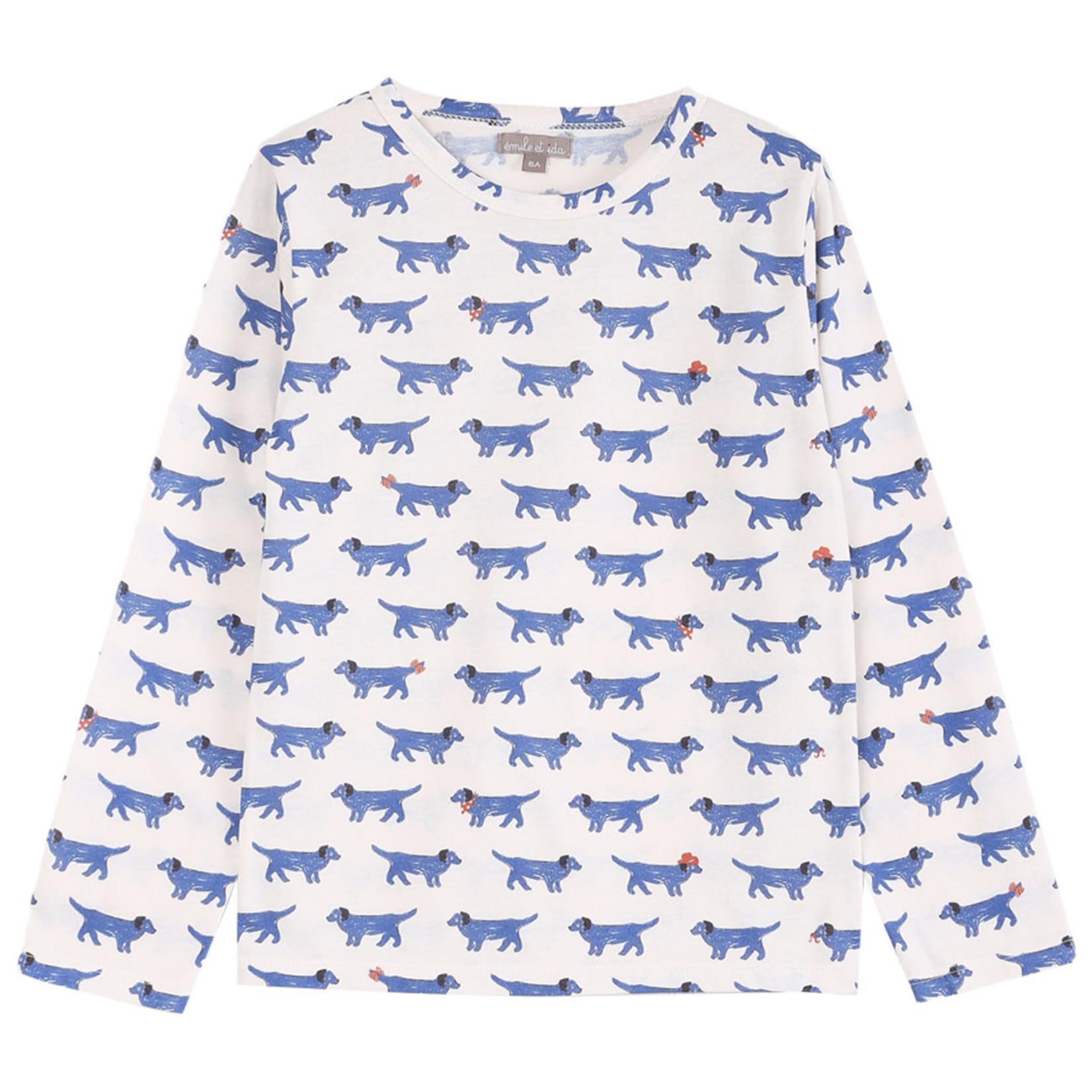 EMILE ET IDA EMILE & IDA t-shirt dog  ECRU