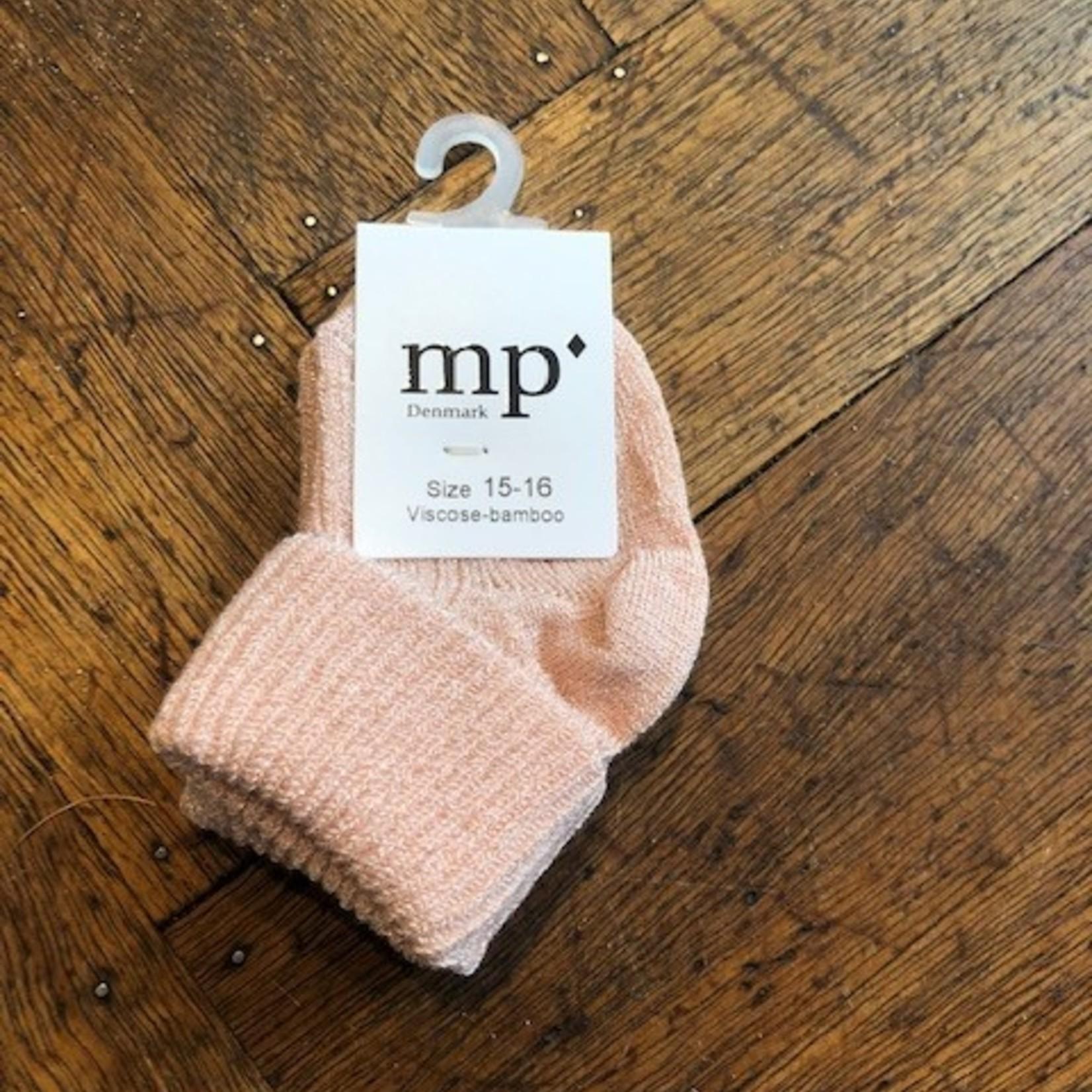 MP DENMARK MP Denmark baby sok roze/rib glitter