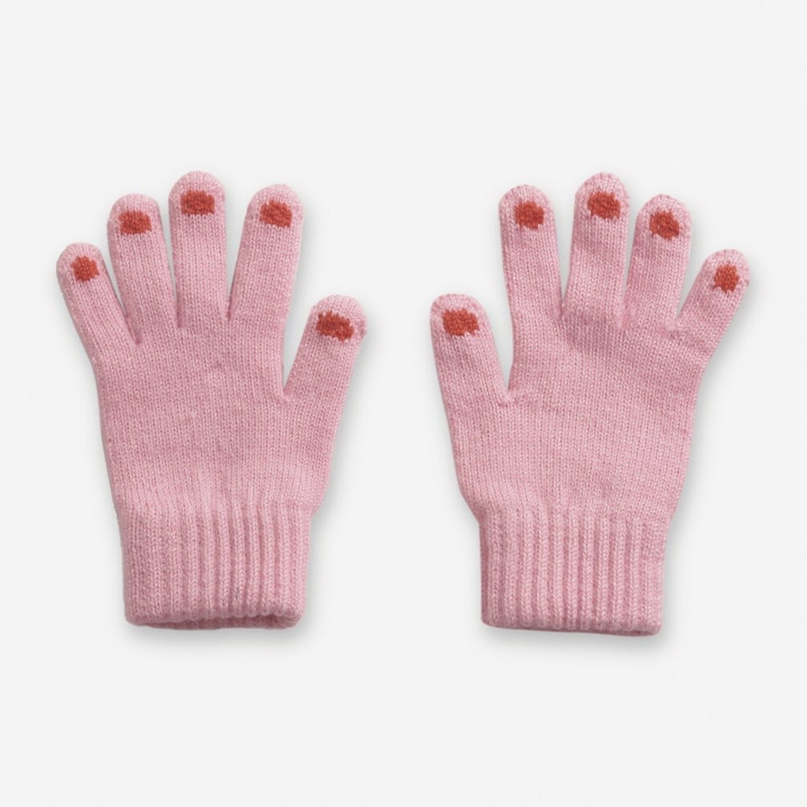BOBO CHOSES BOBO CHOSES  hands pink knitted gloves