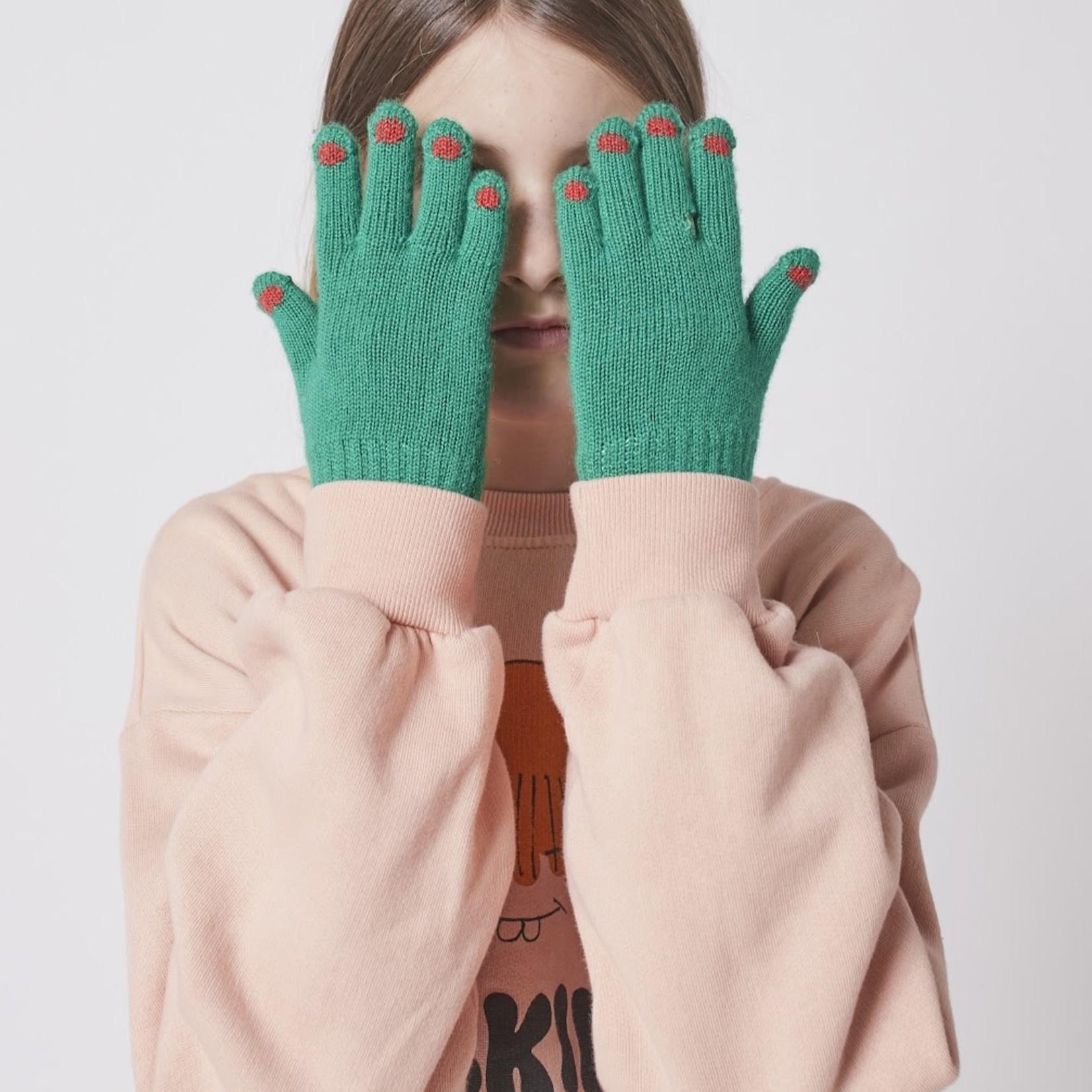 BOBO CHOSES BOBO CHOSES  hands green knitted gloves