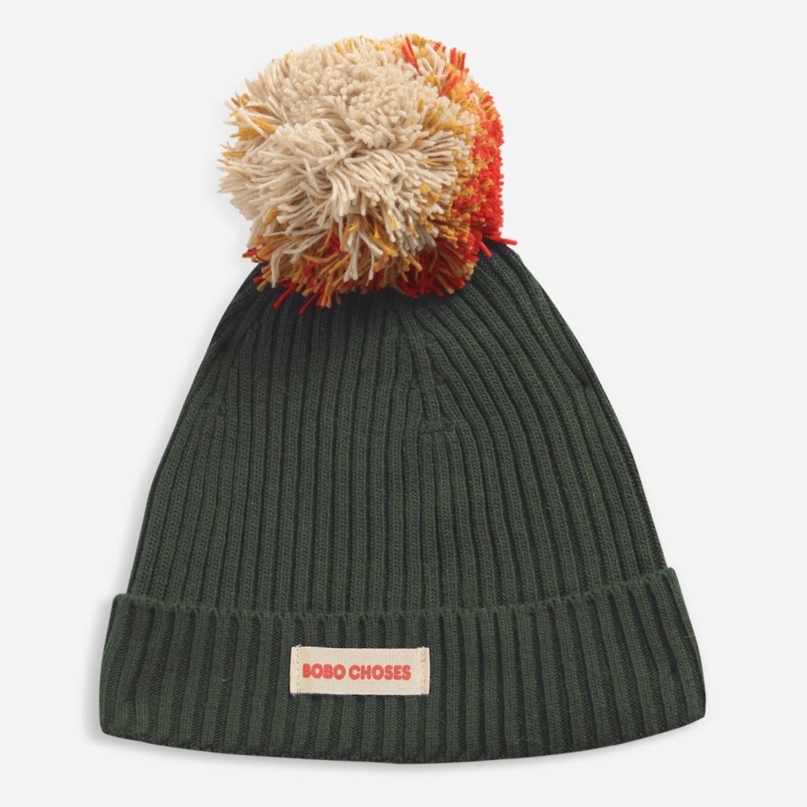 BOBO CHOSES BOBO CHOSES Pompom knitted beanie khaki