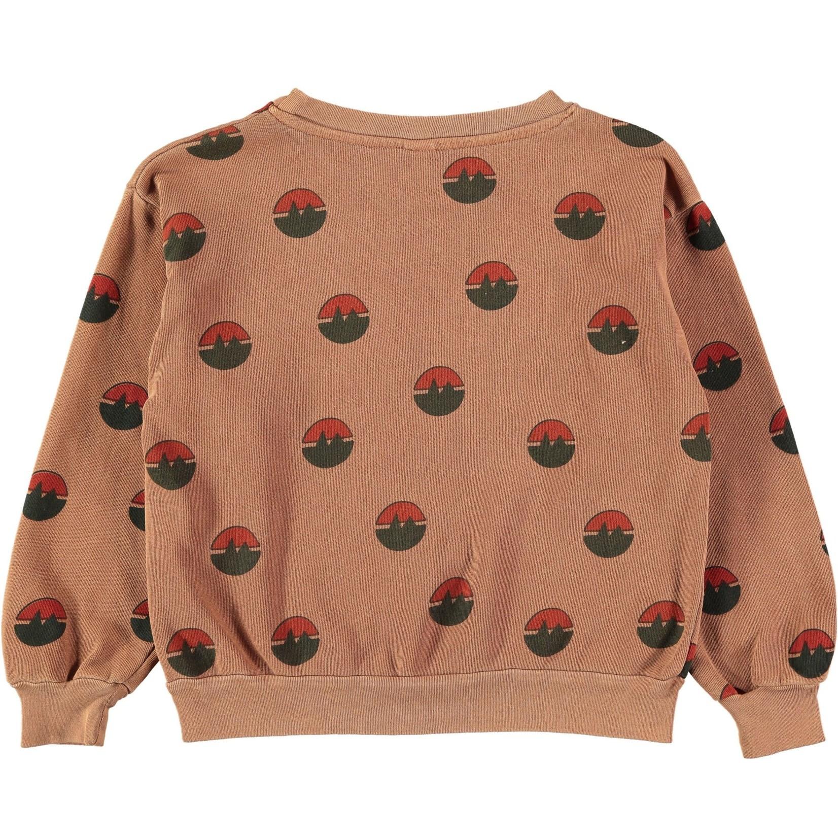 BONMOT BONMOT organic. Sweatshirt all over mountain