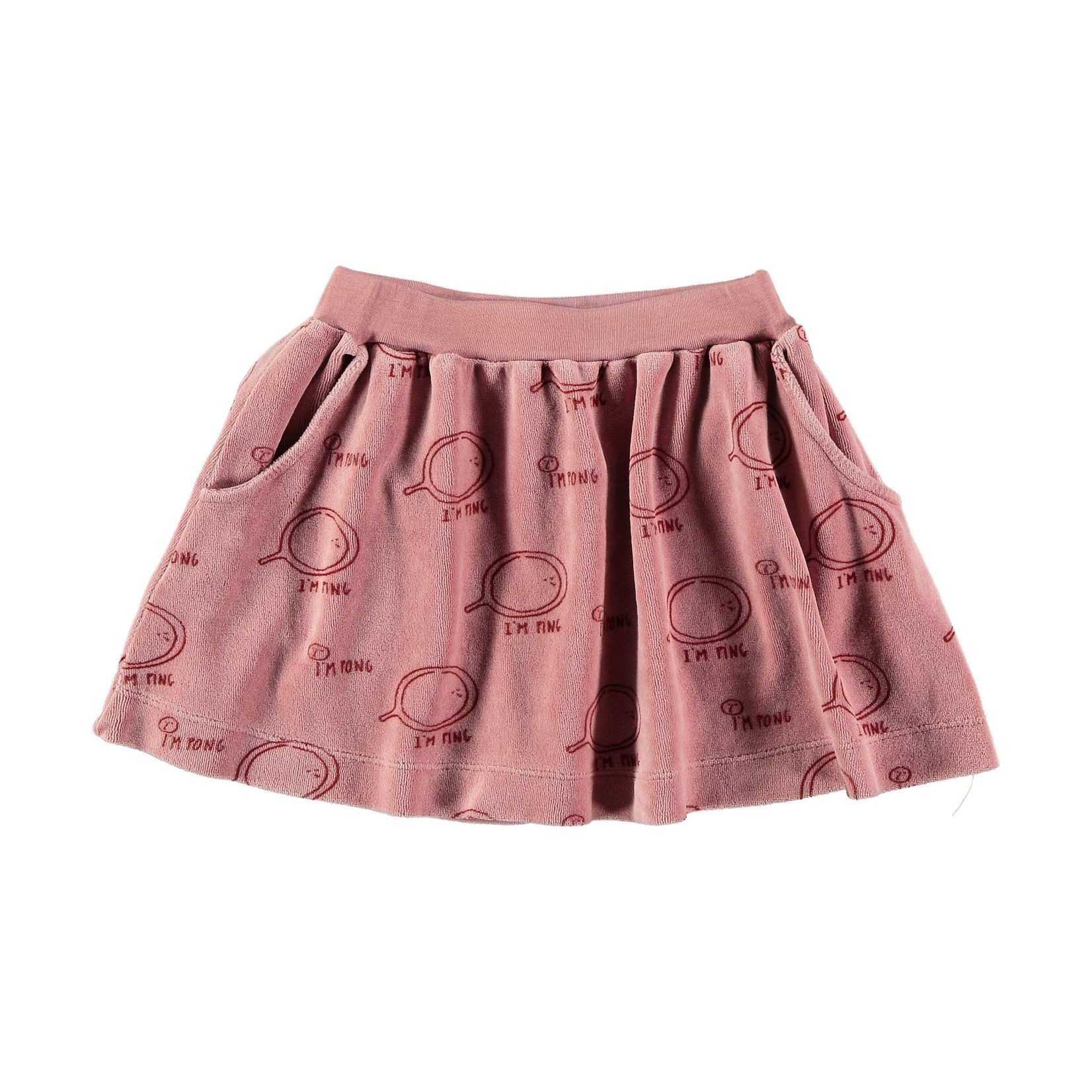 BONMOT BONMOT organic .Mini skirt allover im ping