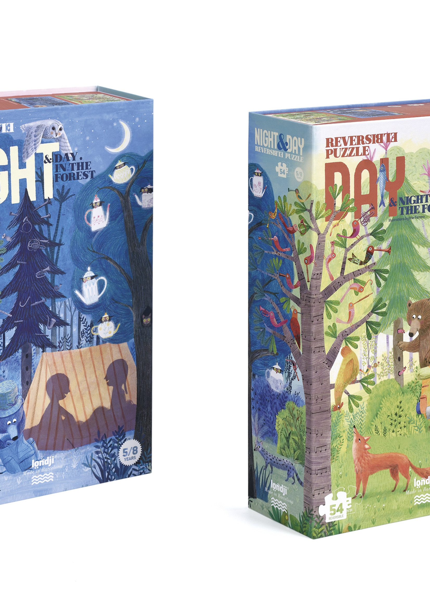 Londji Puzzle - Night & Day In The Forest