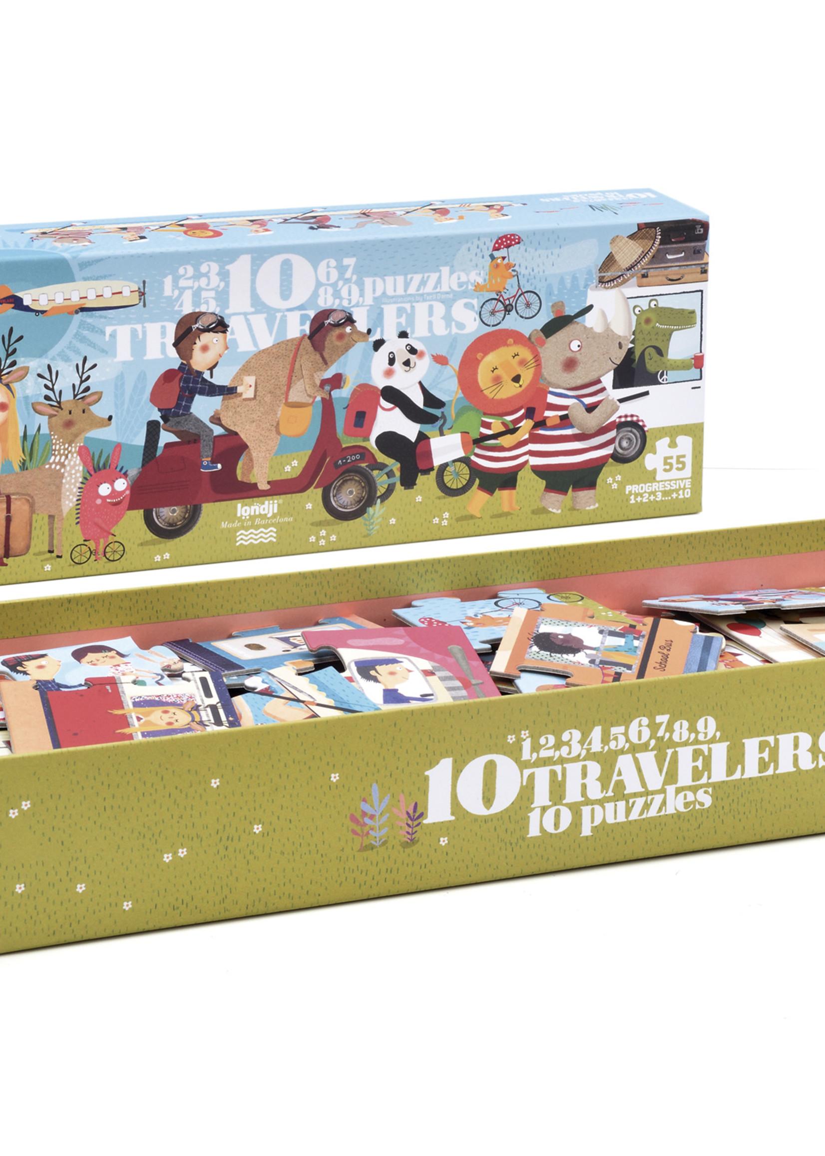 Londji Puzzel - 10 Travellers