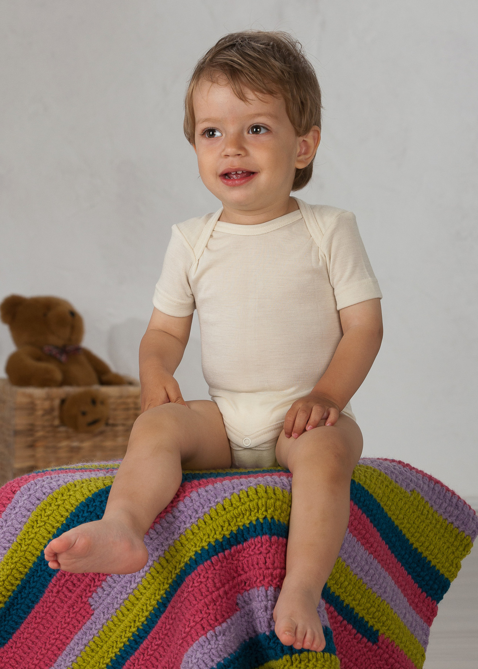 Cosilana Body - Short sleeve - Wool/Silk