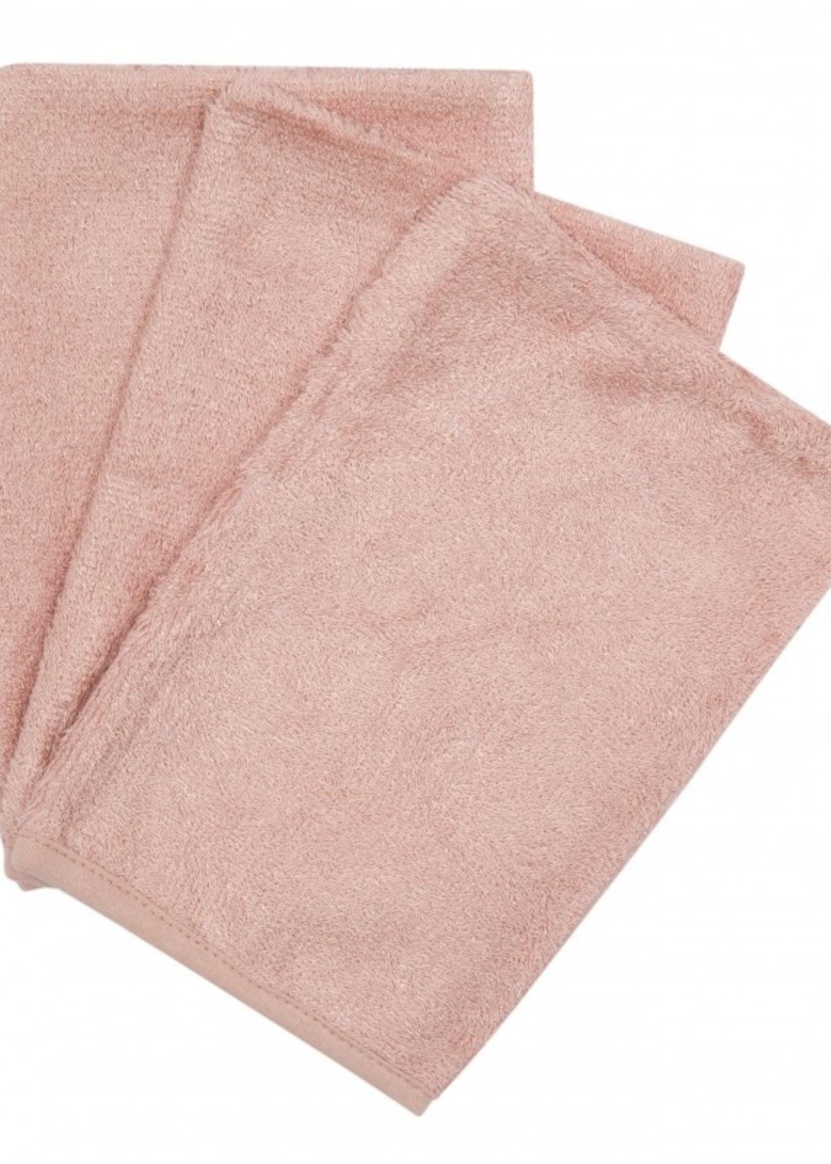 Timboo Set 3 washcloths - Misty Rose