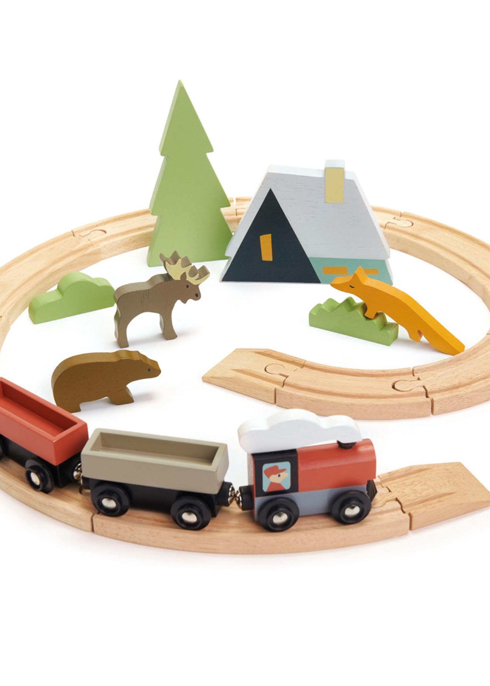 Tender Leaf Toys Train Set Tree Tops