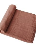 Mushie Muslin Swaddle Blanket Organic Cotton - Tawny Birch