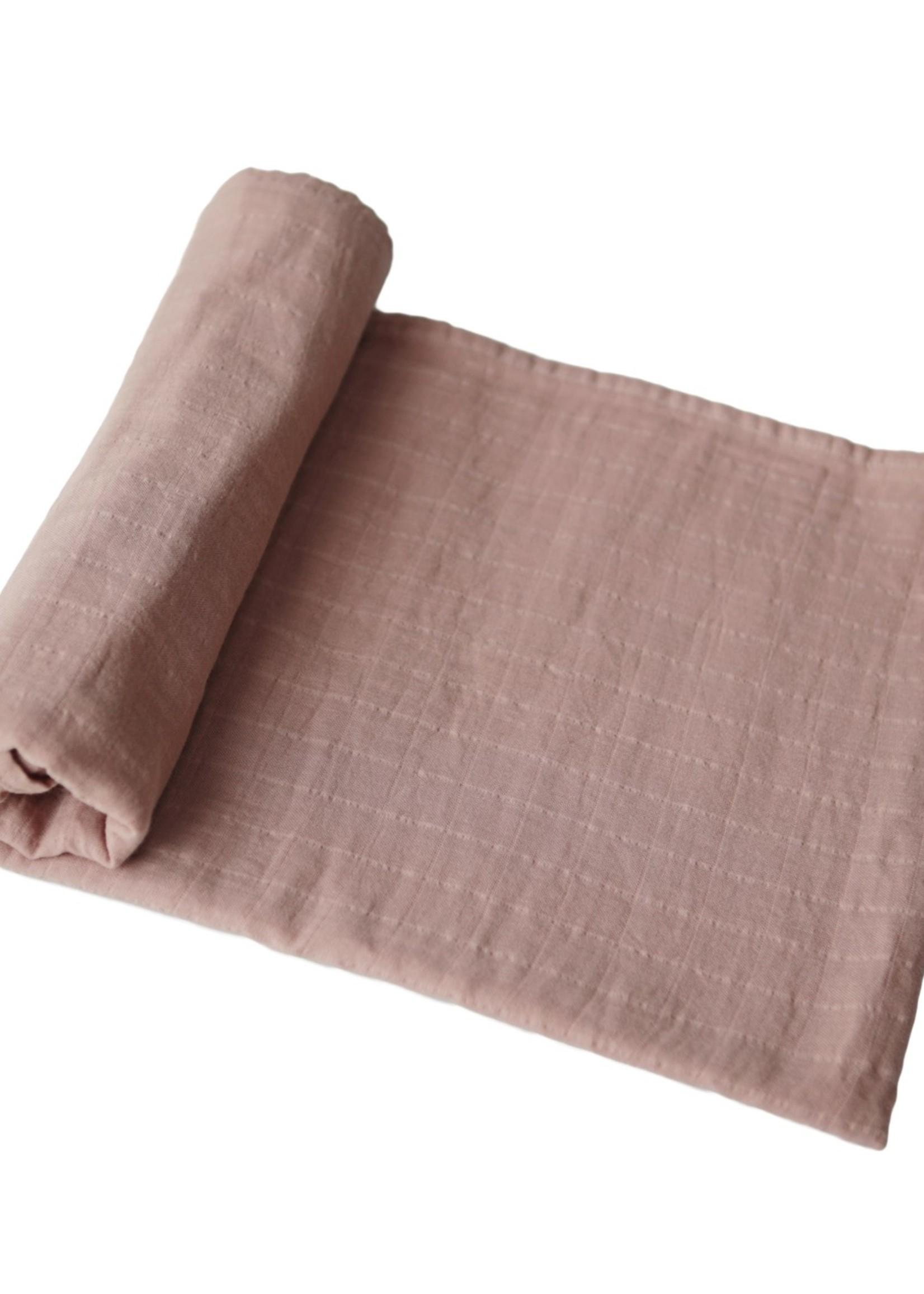 Mushie Muslin Swaddle Blanket Organic Cotton - Natural