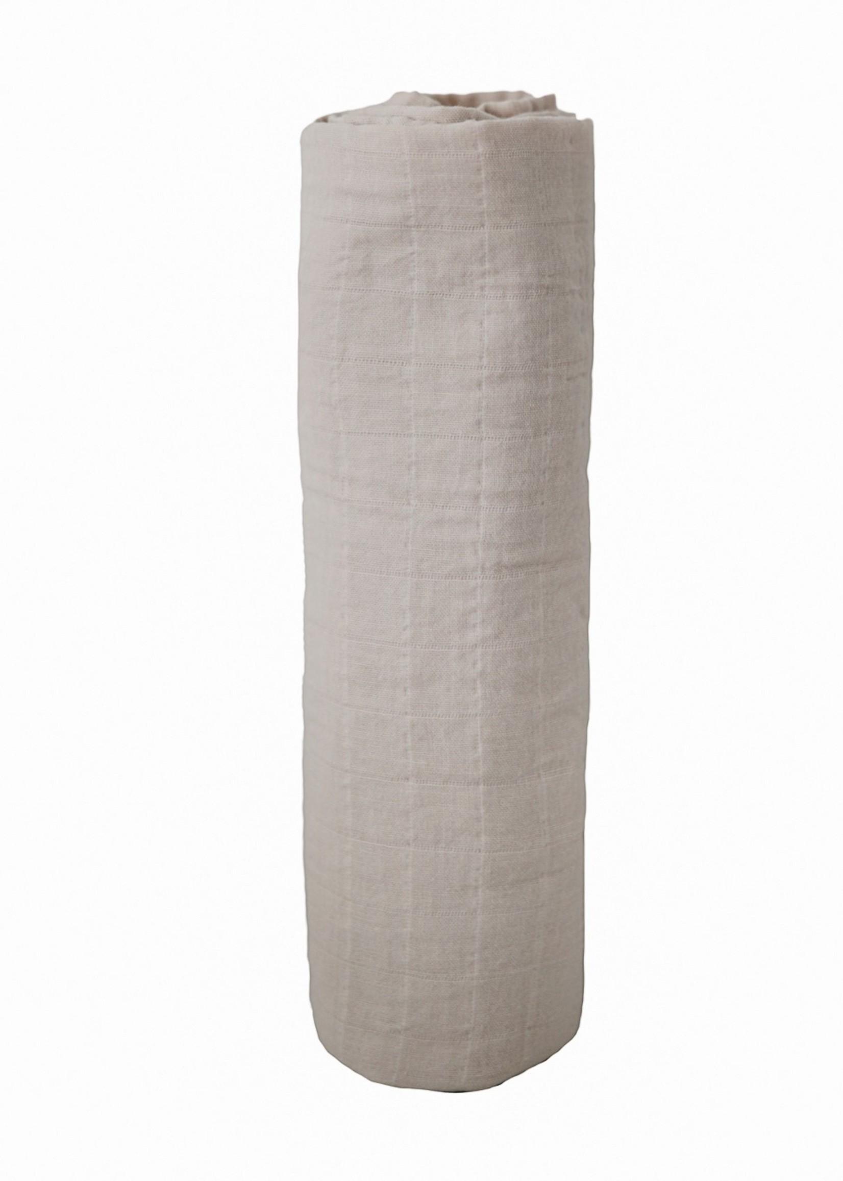 Mushie Muslin Swaddle Blanket Organic Cotton - Fog