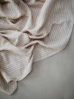 Mushie Swaddle - Natural Stripes