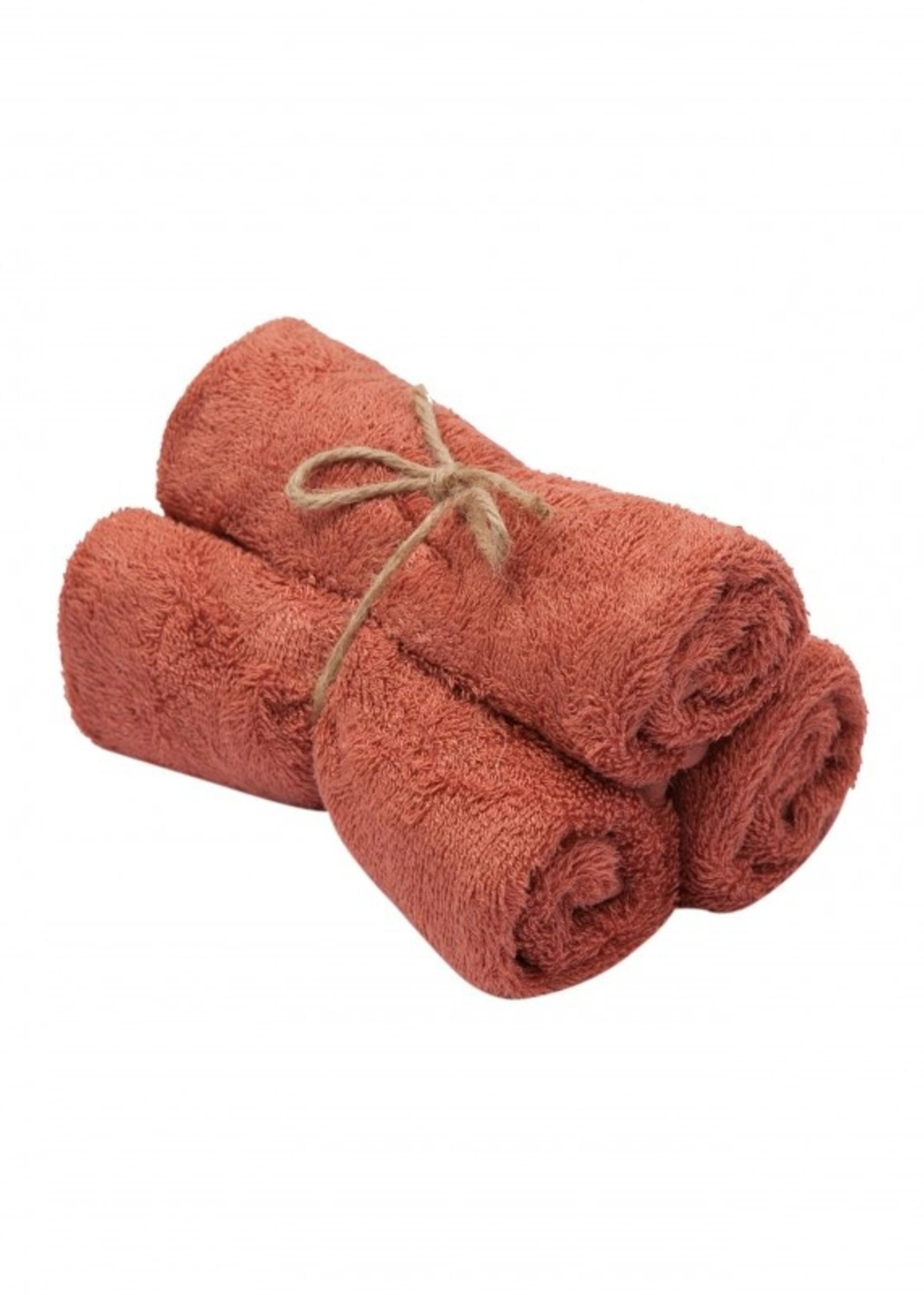 Timboo Set 3 Small Towels - Apricot Blush