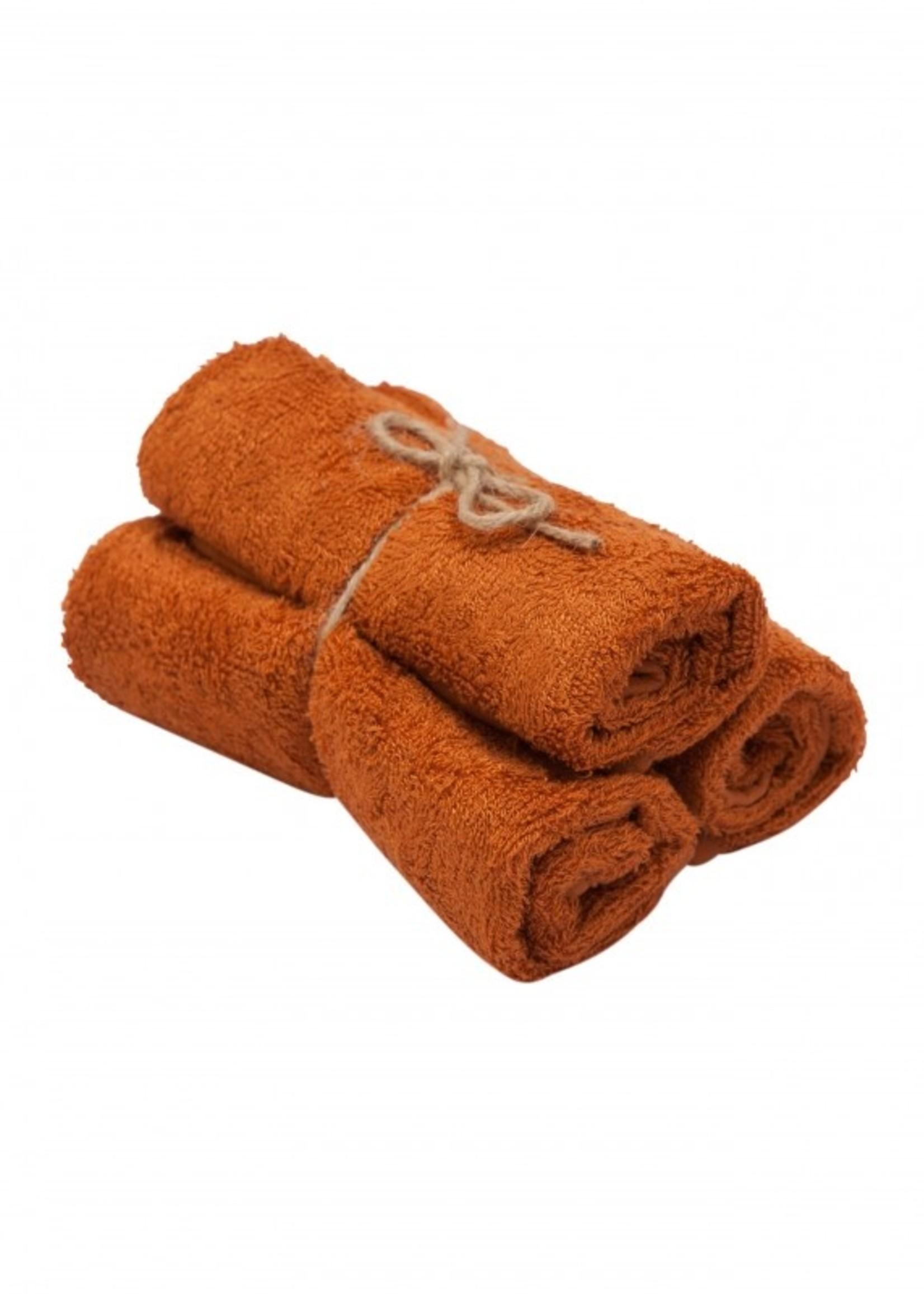 Timboo Set 3 Small Towels - Inca Rust