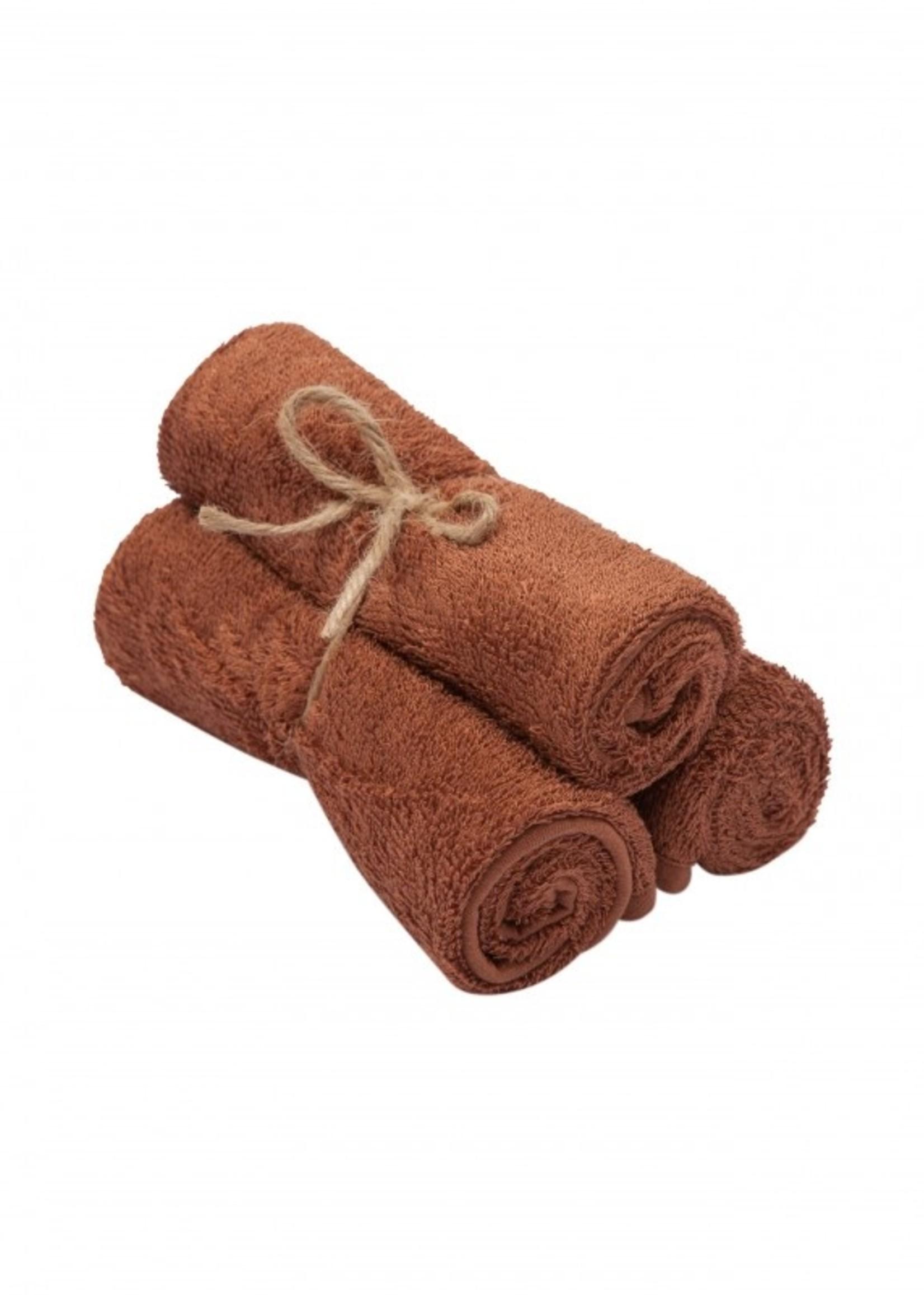 Timboo Set 3 Small Towels - Hazel Brown