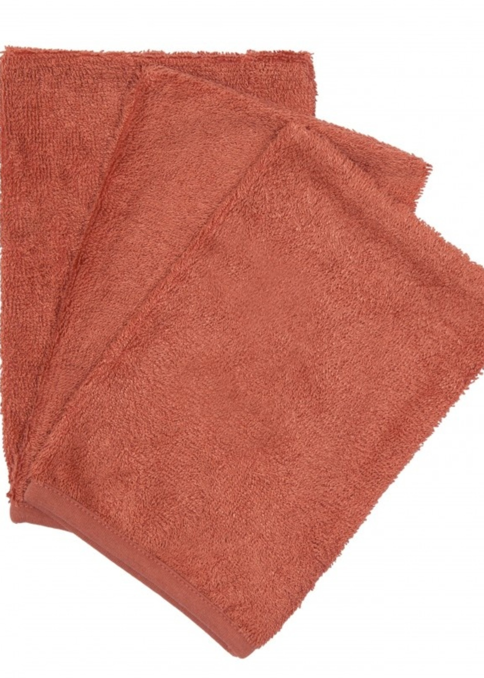 Timboo Set 3 Washcloths - Apricot Blush