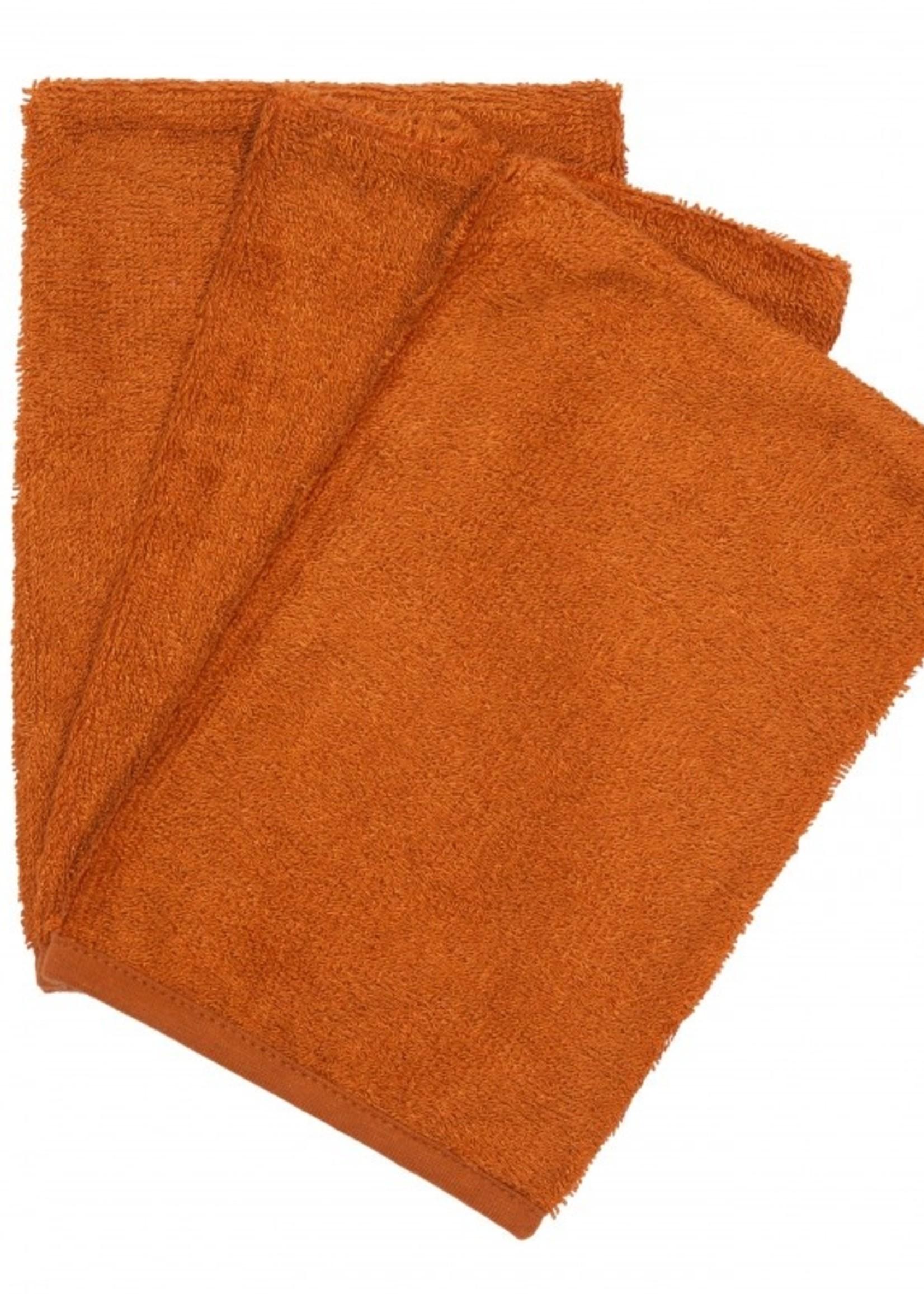 Timboo Set 3 Washcloths - Inca Rust