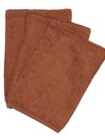 Timboo Set -  3 washcloths Hazel Brown