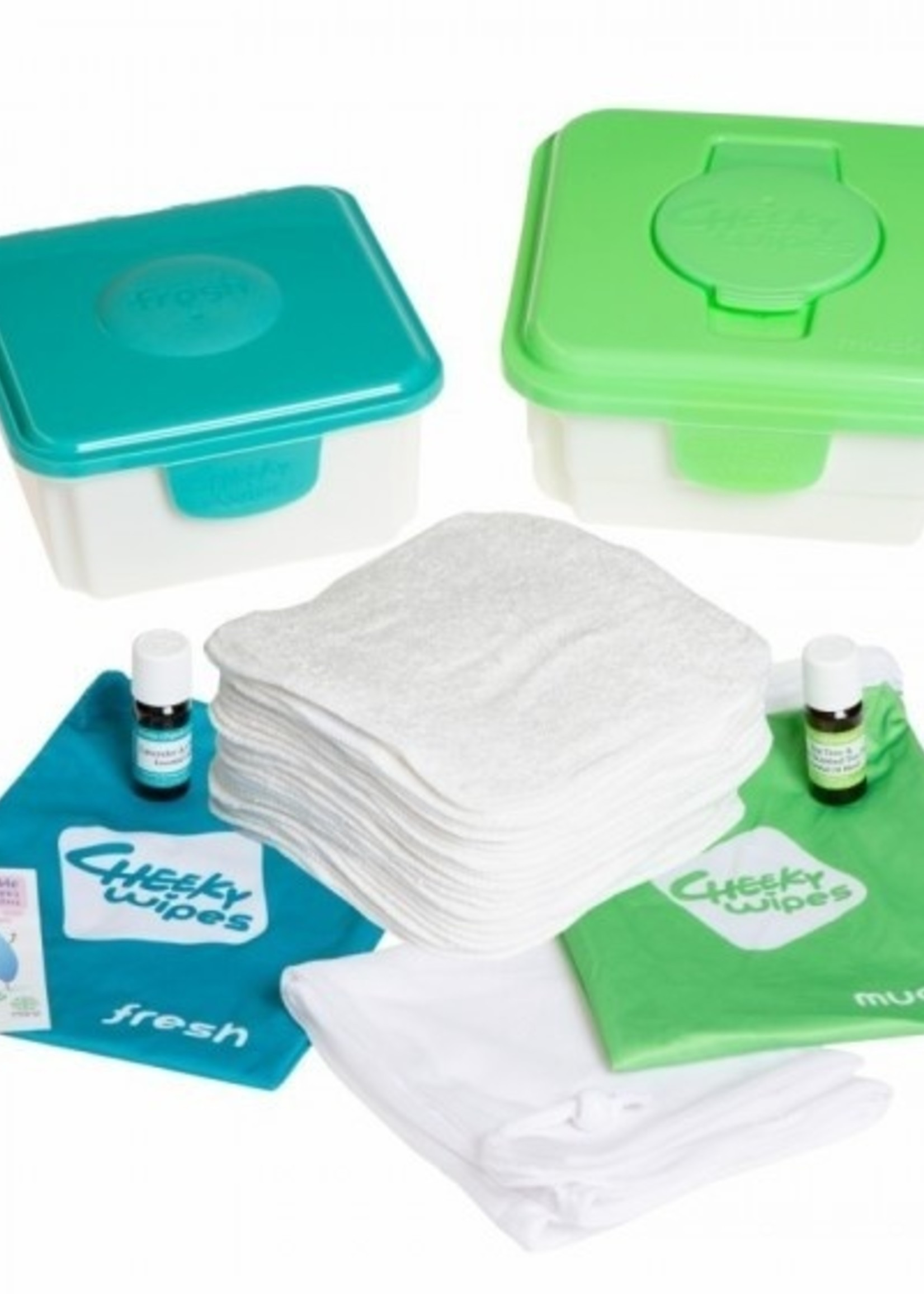 Cheeky Wipes Baby Wipes - All-In-One Kit - Pink