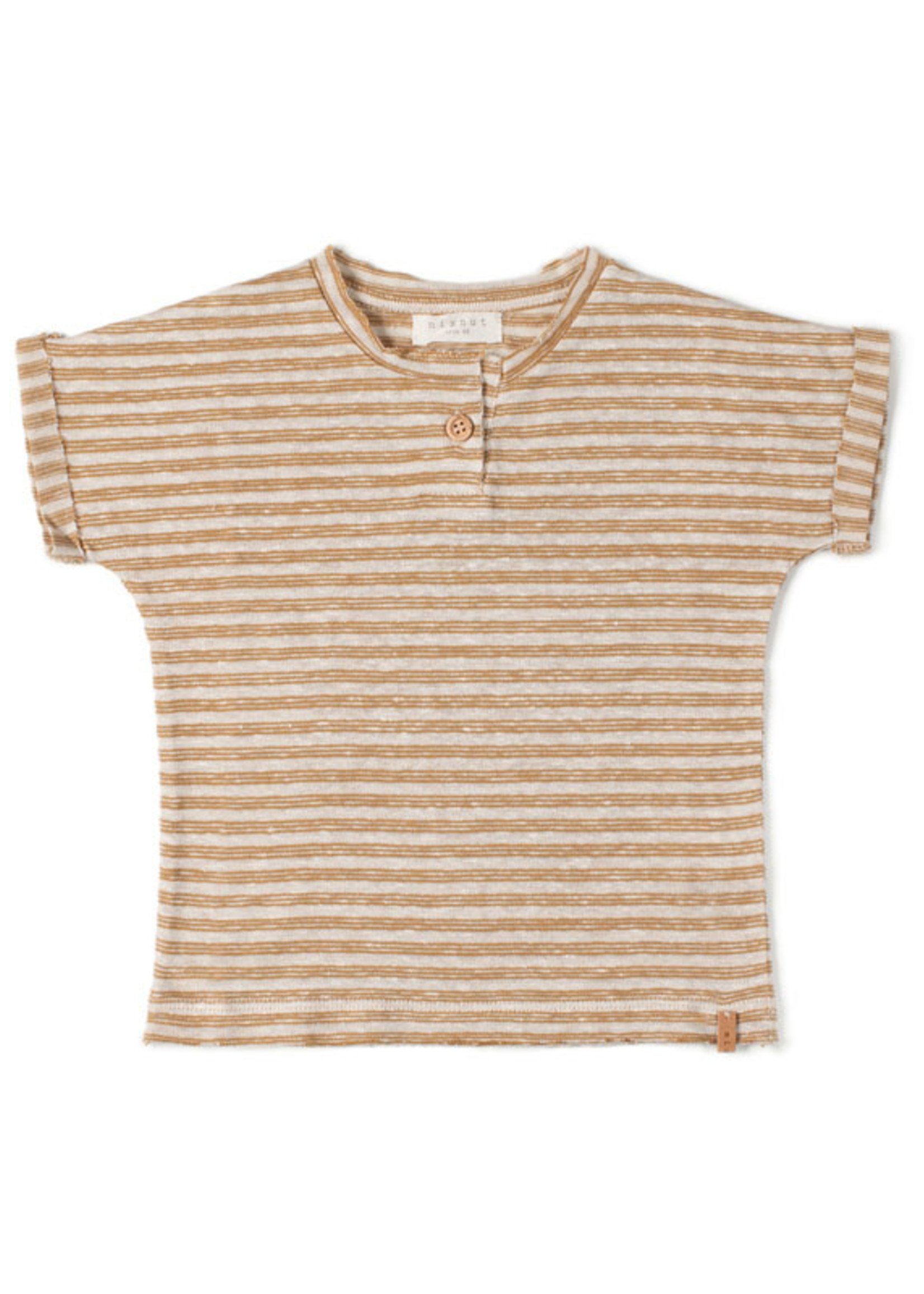 Nixnut Tshirt Stripe - Caramel