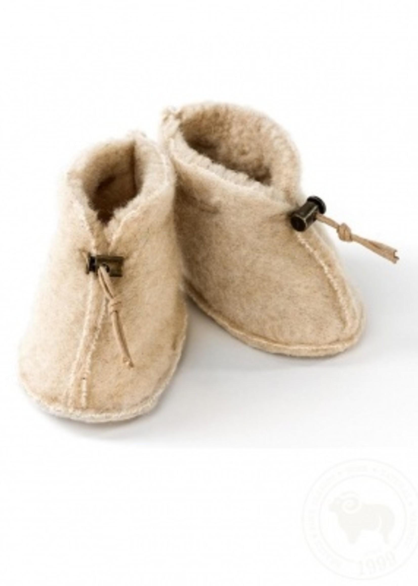 Alwero Babyslofjes 100% emowol - Beige